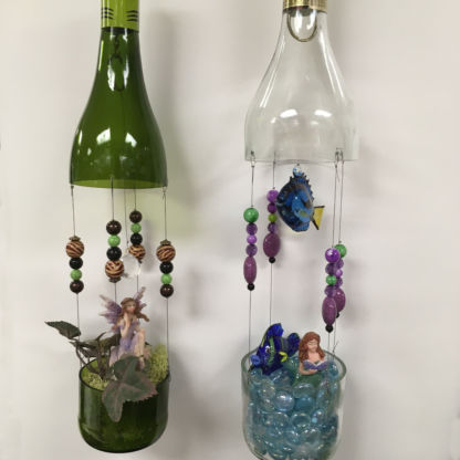 Wine Bottle Fairy Garden Class - Projects