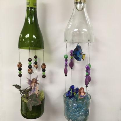 Wine Bottle Fairy Garden Class - Projects