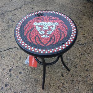 LSA Lion Mosaic Glass table