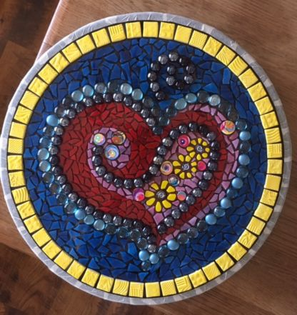 Mosaic heart table