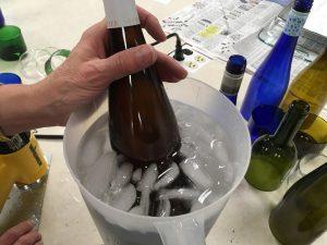 Bottle in Ice Water Bath