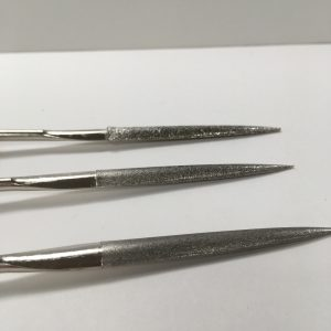 Diamond glass file set close up