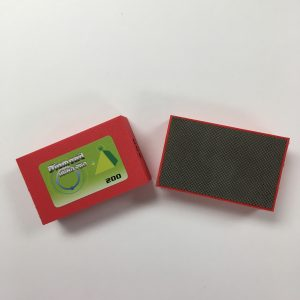 200 grit red medium diamond hand sanding pad