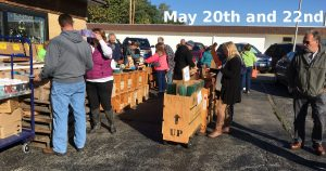 Spring May 20 and 22 Parking Lot Stained Glass Sale