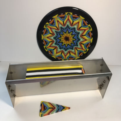 Kaleidoscope Glass Mold with Finished Project Example