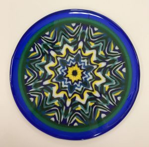 small kaleidoscope triangle plate