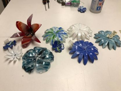 Assorted Fused Flowers - Fused Flowers Class