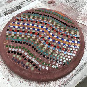 Mosaic DiamondCrete Stepping Stone Class Student Project