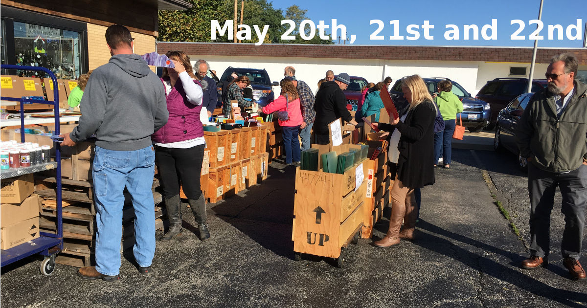 Spring May 20, 21 and 22 Parking Lot Stained Glass Sale