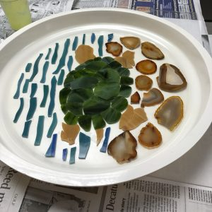 Turtle Glass and Rock Ready for DiamondCrete - Garden Stepping Stone Class