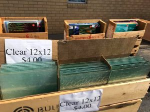 Bullseye clear glass parking lot sales-2017-spring