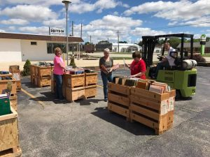 Michael fork truck parking-lot sales 2017-spring