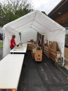 Tent parking lot sale 2017 spring