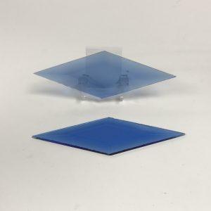 Blue diamond glass bevel 2 x 6