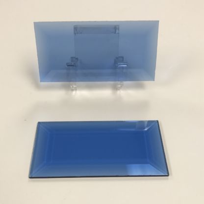 Blue rectangle glass bevel representative