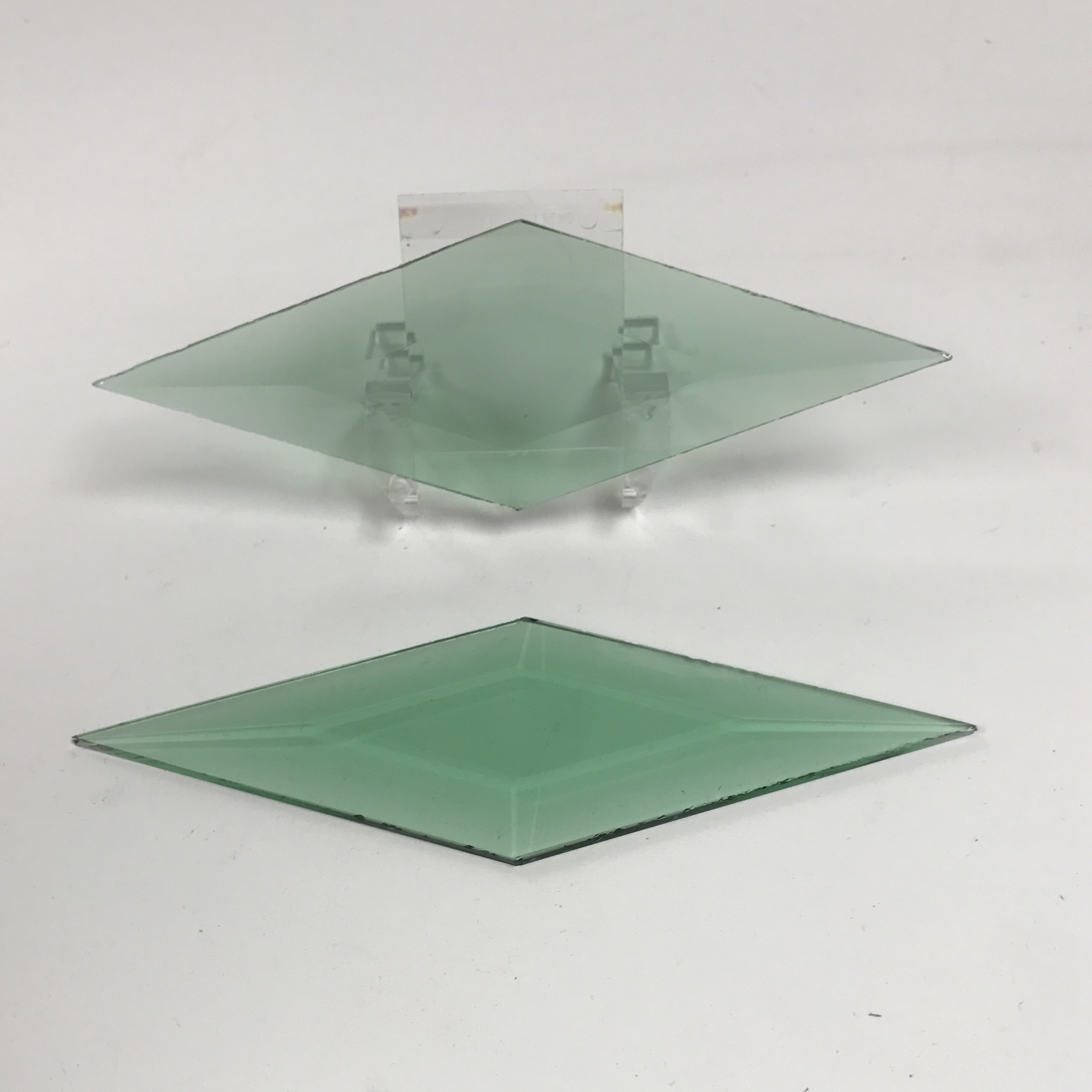 clear round bevels pack of 6 Stained Glass Supplies 2 x 2 inch 50mm