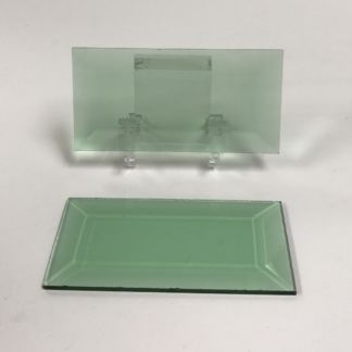 Green rectangle glass bevel representative