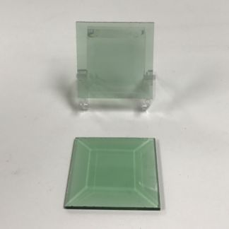 Green square glass bevel 2 x 2