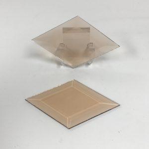 Peach diamond glass bevel representative