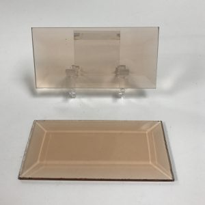Peach rectangle glass bevel representative