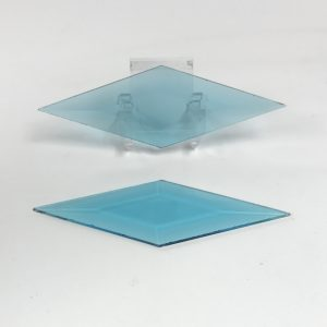 Turquoise diamond glass bevel 2 x 6