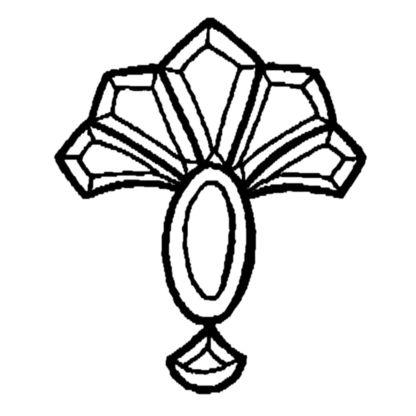 Duchess Beveled Glass Cluster