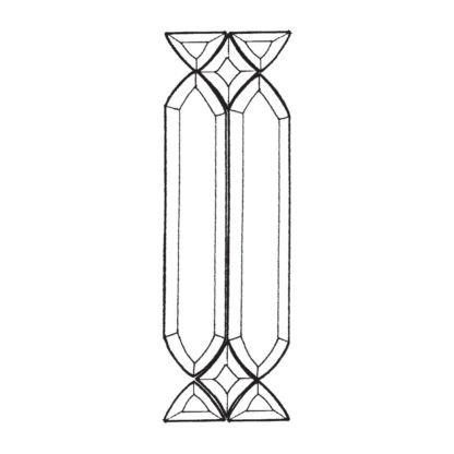 Devore Beveled Glass Cluster