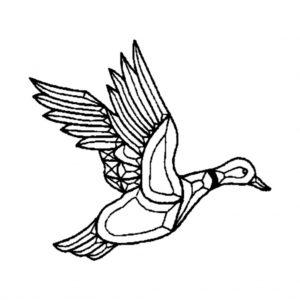 Flying Duck Beveled Glass Cluster