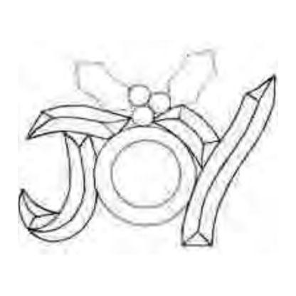 Joy Holly Beveled Glass Cluster