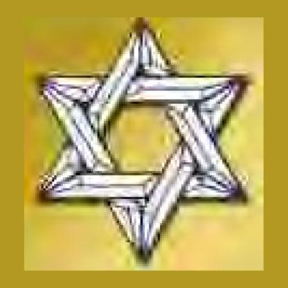 Star of David Beveled Glass Cluster - MEC 210