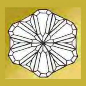 Snowflake Beveled Glass Cluster - MJH116