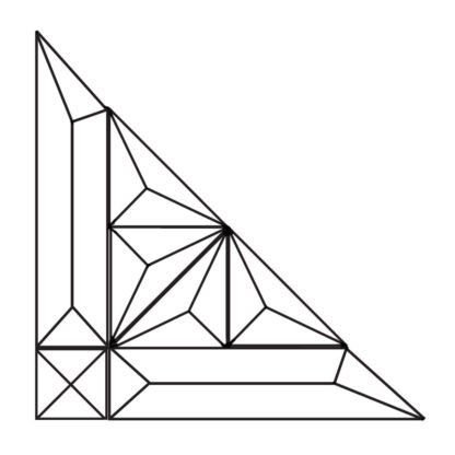 Corner Beveled Glass Cluster - MMS 7006