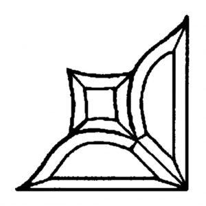 Corner Beveled Glass Cluster - PZ 3211