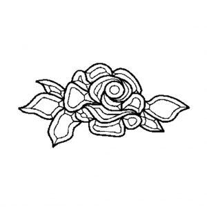 Rose Beveled Glass Cluster