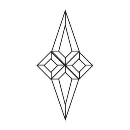 Star Beveled Glass Cluster - Star 200