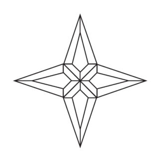 Star Beveled Glass Cluster - Star 201
