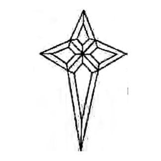 Star Beveled Glass Cluster - T1422EA09