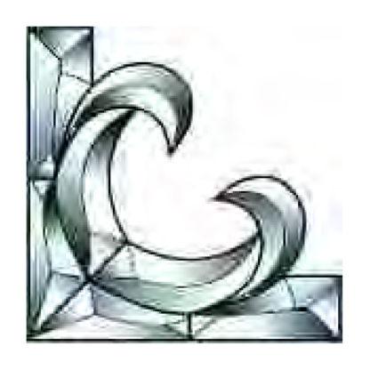 Corner Beveled Glass Cluster - TGC 124