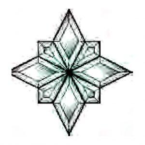 Star Beveled Glass Cluster - THB 112