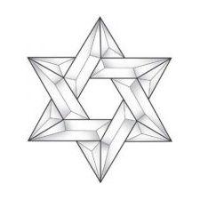 Star of David Glass Bevel Cluster