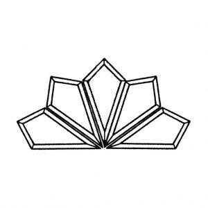Starburst Glass Bevel Cluster