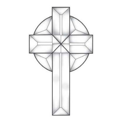 Celtic Cross Small Beveled Glass Cluster – MEC 153