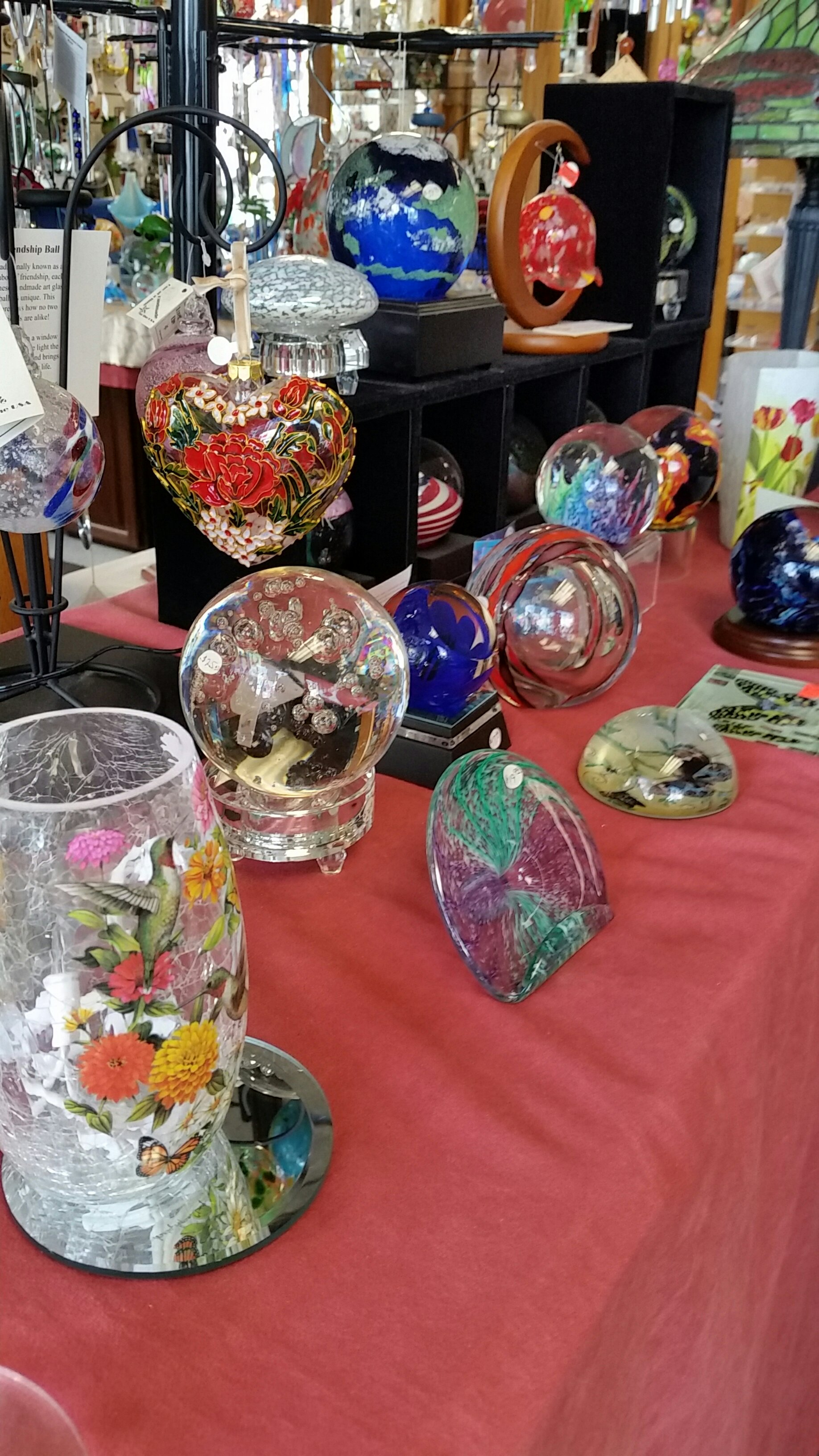 Friendship Ball and Unique Glass Art