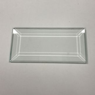 Rectangle Bevel Clear Glass 1-15/16″ x 4-3/16″