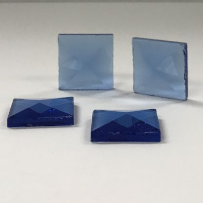 Square Colored Glass Bevel -3/4″ x 3/4″ Blue