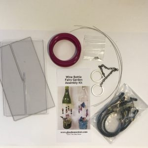 Wine Bottle Fairy Garden Assembly Kit