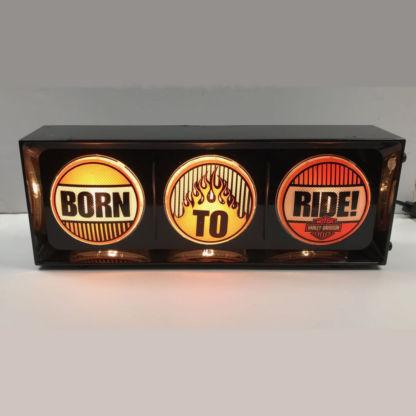 Harley Davidson Born To Ride Traffic Light Horizontal