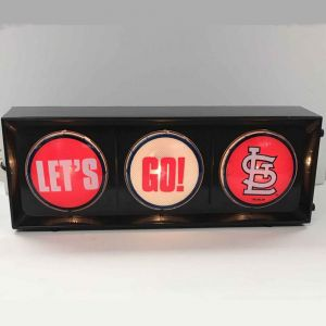 Lets go St Louis Cardinals Traffic Light Horizontal view