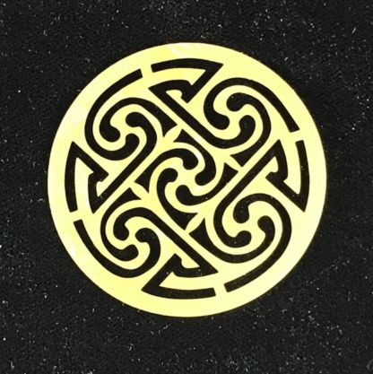 Celtic Medallion Brass Filigree