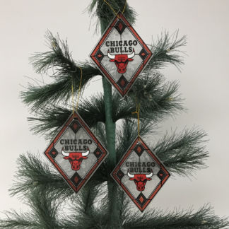 Chicago Bulls Art Glass Ornaments
